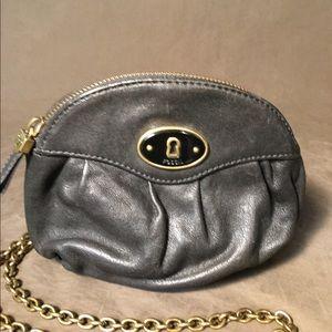 Fossil small leather Handbag Crossbody Purse